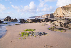 Porthtowan beach in cornwall uk England Stock Photo