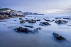 Porthtowan beach in cornwall uk England Stock Images