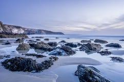 Porthtowan beach in cornwall uk England Stock Photography