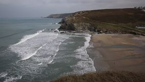 Porthtowan beach near St Agnes Cornwall England Royalty Free Stock Photography