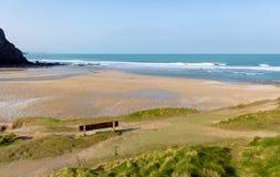 Porthtowan beach near St Agnes Cornwall England UK Stock Photo