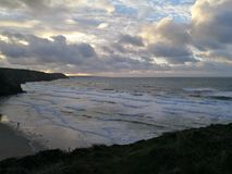 Porthtowan. Coastal, Cornwall, sunset, sea stock images