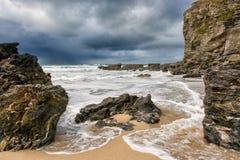 Porthtowan plaża Fotografia Stock