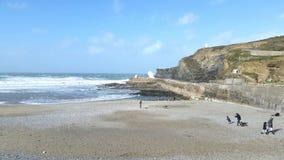 Porthtreath. North Cornwall  Coast Stock Photo