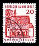 Porthus av Lorsch, Hessen, tyska byggnader från tolv århundraden serie, circa 1965 royaltyfri bild
