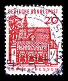 Porthus av Lorsch, Hessen, tyska byggnader från tolv århundraden serie, circa 1965 royaltyfri fotografi