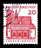 Porthus av Lorsch, Hessen, tyska byggnader från tolv århundraden serie, circa 1965 fotografering för bildbyråer
