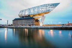 Porthus i Antwerpen Royaltyfria Bilder