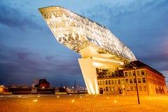 Porthus i Antwerpen Arkivbild
