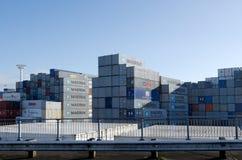 Porti di Auckland Immagine Stock
