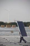 Porti i pannels solari Immagini Stock