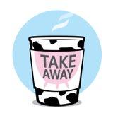 Porti via la tazza del latte Fotografia Stock Libera da Diritti