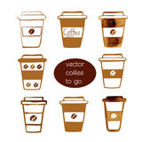 Porti via le tazze di caffè Fotografie Stock Libere da Diritti