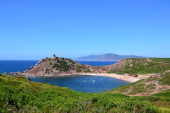 Porticciolo Beach and tower, Sardinia - Italy Stock Photography