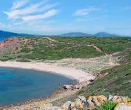 Porticciolo beach. Turquoise sea in Porticciolo, Sardinia Royalty Free Stock Photography