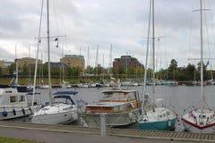 Porticciolo a Copenhaghen, Danimarca Fotografie Stock