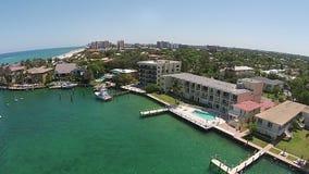 Porticciolo costiero nella vista aerea di Florida Immagini Stock