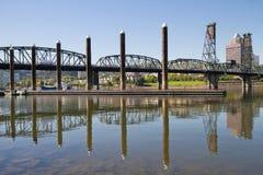 Porticciolo da Willamette River a Portland Oregon Fotografia Stock Libera da Diritti