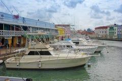 Porticciolo del centro di Bridgetown, Barbados Immagini Stock