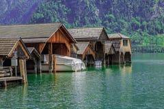Porticciolo del lago Fotografie Stock Libere da Diritti