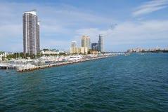 Porticciolo del Miami Beach fotografia stock libera da diritti