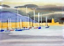 Porticciolo del porto del laoghaire del Dun Fotografie Stock