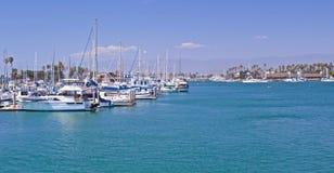 Porticciolo del porto delle isole del canale Fotografie Stock Libere da Diritti