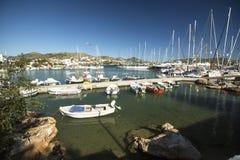 Porticciolo dell'isola del Greco di Syros Fotografie Stock