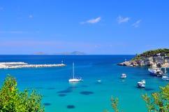 Porticciolo dell'isola di Alonissos, Grecia Fotografia Stock Libera da Diritti