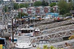 Porticciolo dell'isola di Granville a Vancouver Fotografie Stock Libere da Diritti