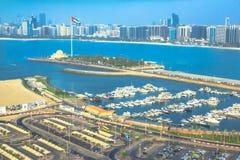 Porticciolo di Abu Dhabi Fotografia Stock Libera da Diritti