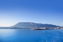 Porticciolo di Alicante Denia sul Mediterraneo blu Fotografia Stock Libera da Diritti