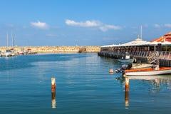 Porticciolo di Ascalona, Israele Immagine Stock