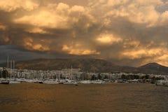 Porticciolo di Atene in Alimos. Immagini Stock