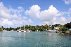 Porticciolo di Castries, St Lucia Fotografia Stock Libera da Diritti