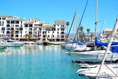 porticciolo di Duquesa della La, Costa del Sol, Spagna Fotografia Stock Libera da Diritti