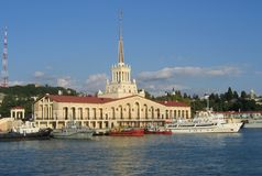 Porticciolo di Sochi immagine stock