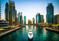 Porticciolo Dubai Fotografia Stock Libera da Diritti