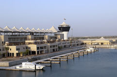 Porticciolo grande Prix dell'ABU DHABI, UAE Yas Fotografia Stock