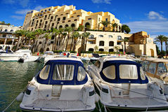 Porticciolo lussuoso di Portomaso, Malta immagine stock