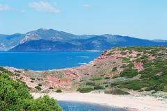 Porticciolo seascape. Hills and sea in Porticciolo Royalty Free Stock Images