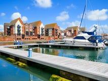 Porticciolo sovrano del porto, Eastbourne Fotografie Stock