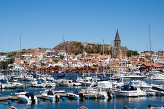 Porticciolo svedese della costa Fotografia Stock Libera da Diritti