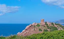 Porticciolo tower. Sighting tower in Porticciolo, Sardinia Stock Photo