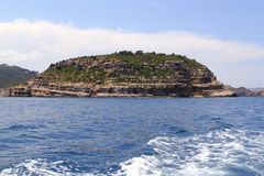 Portichol island in Javea Alicante province Spain Stock Photography