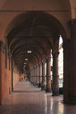 Portici a Bologna in Italia fotografia stock