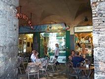 Portici Di Sottoripa, arcade και στοά μέσα μέσω Di Sottoripa Γένοβα Ιταλία Λιγυρία Στοκ Φωτογραφίες