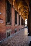 Portico. One of the thousands of porticoes of Bologna's old city center royalty free stock image