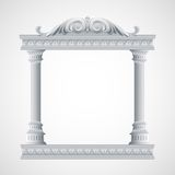 Portico an ancient temple. Colonnade.  Vector Stock Photo