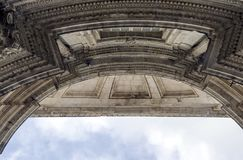 Portico of the cathedral of Cadiz Royalty Free Stock Photography